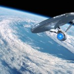 Enterprise Above Earth Wallpaper