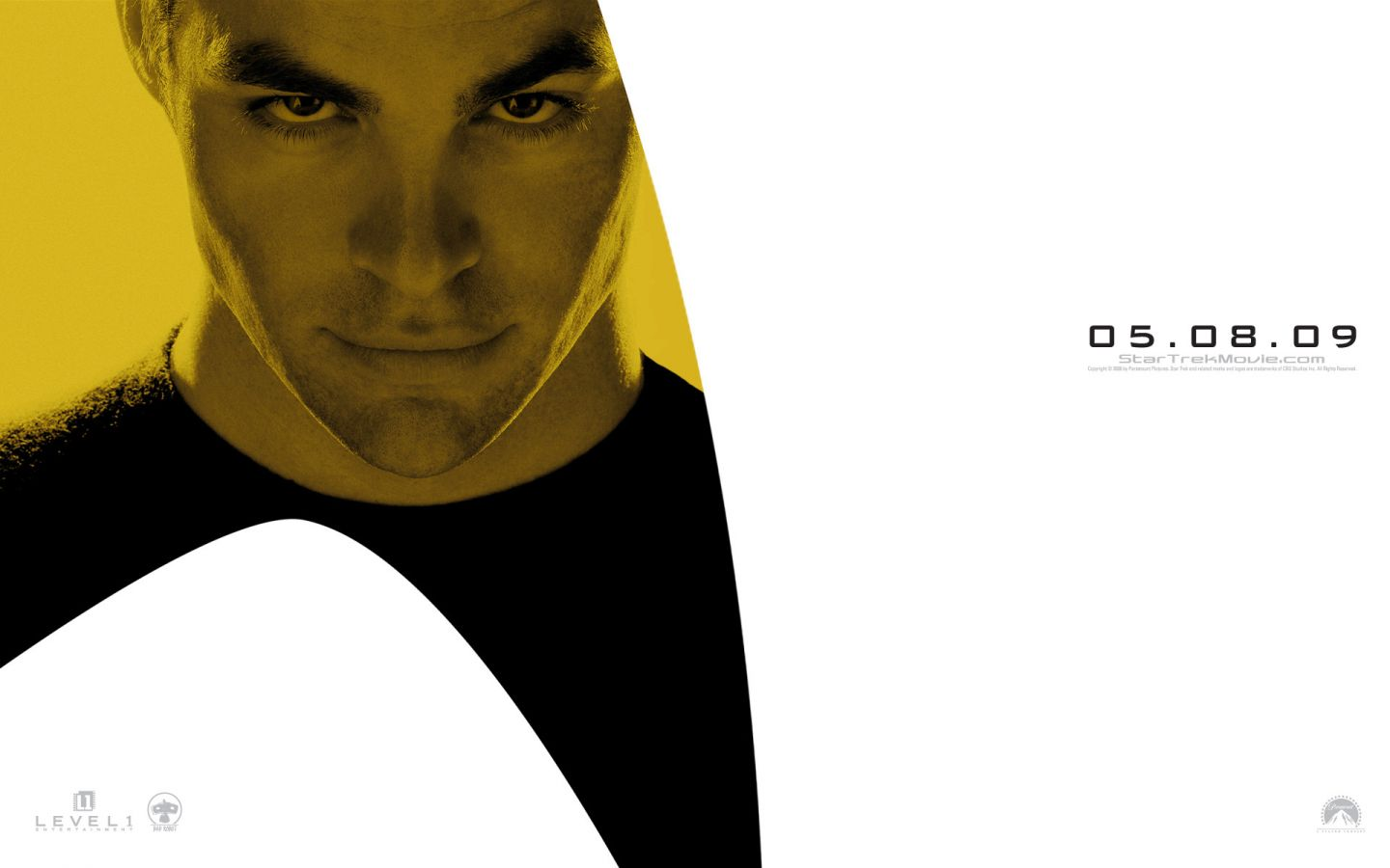 James Kirk Star Trek 2009 Wallpaper 1440x900