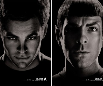 Kirk Spock Faces Double Poster Wallpaper