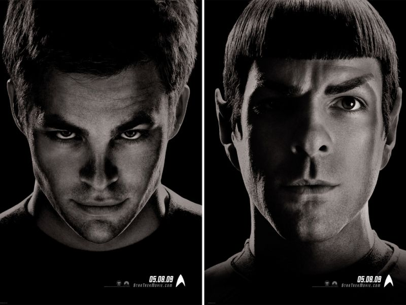 Kirk Spock Faces Double Poster Wallpaper 800x600