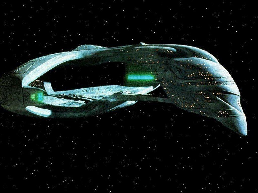 Romulan Starship The Next Generation Wallpaper 1024x768