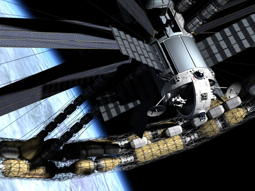 Space Station Wallpaper 1024x768
