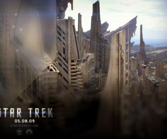 Star Trek 2009 Buildings Poster Wallpaper