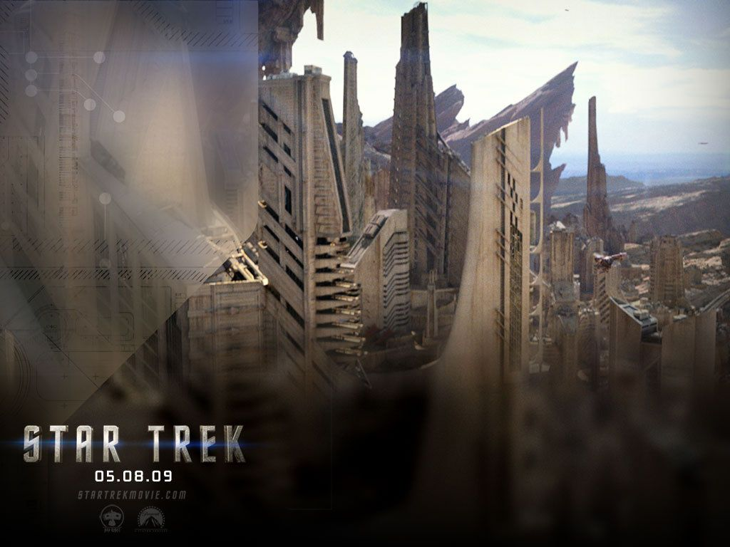 Star Trek 2009 Buildings Poster Wallpaper 1024x768
