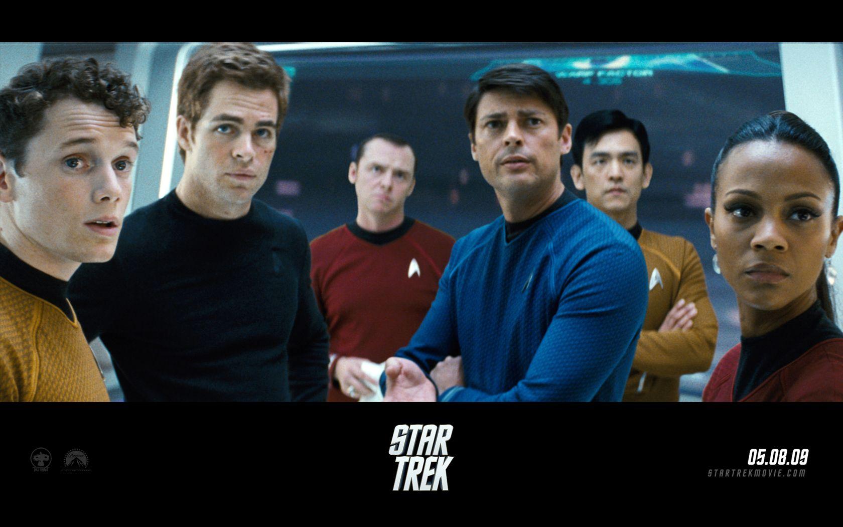 Star Trek 2009 Cast Poster Wallpaper 1680x1050