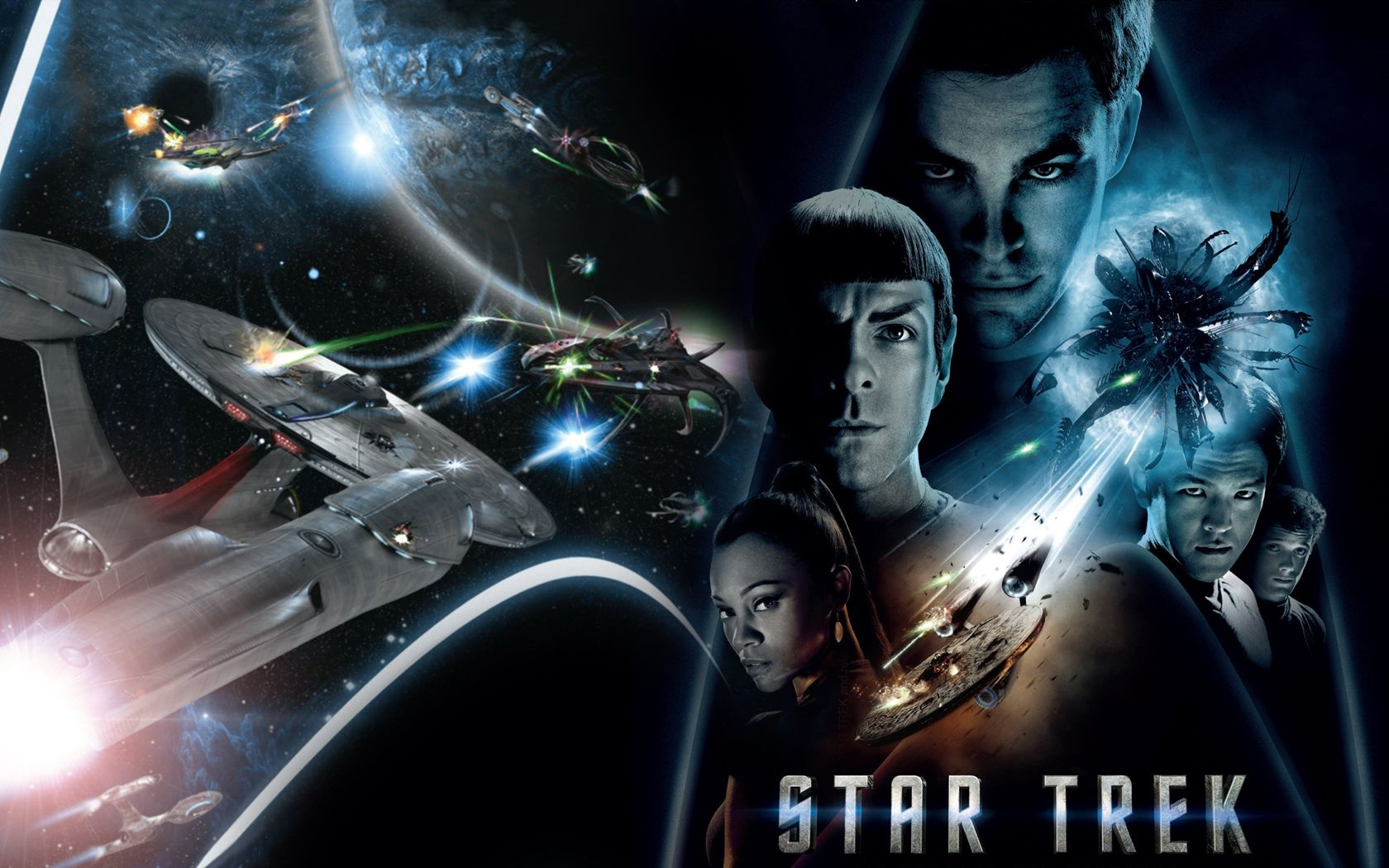 Star Trek 2009 Collage Wallpaper 1680x1050
