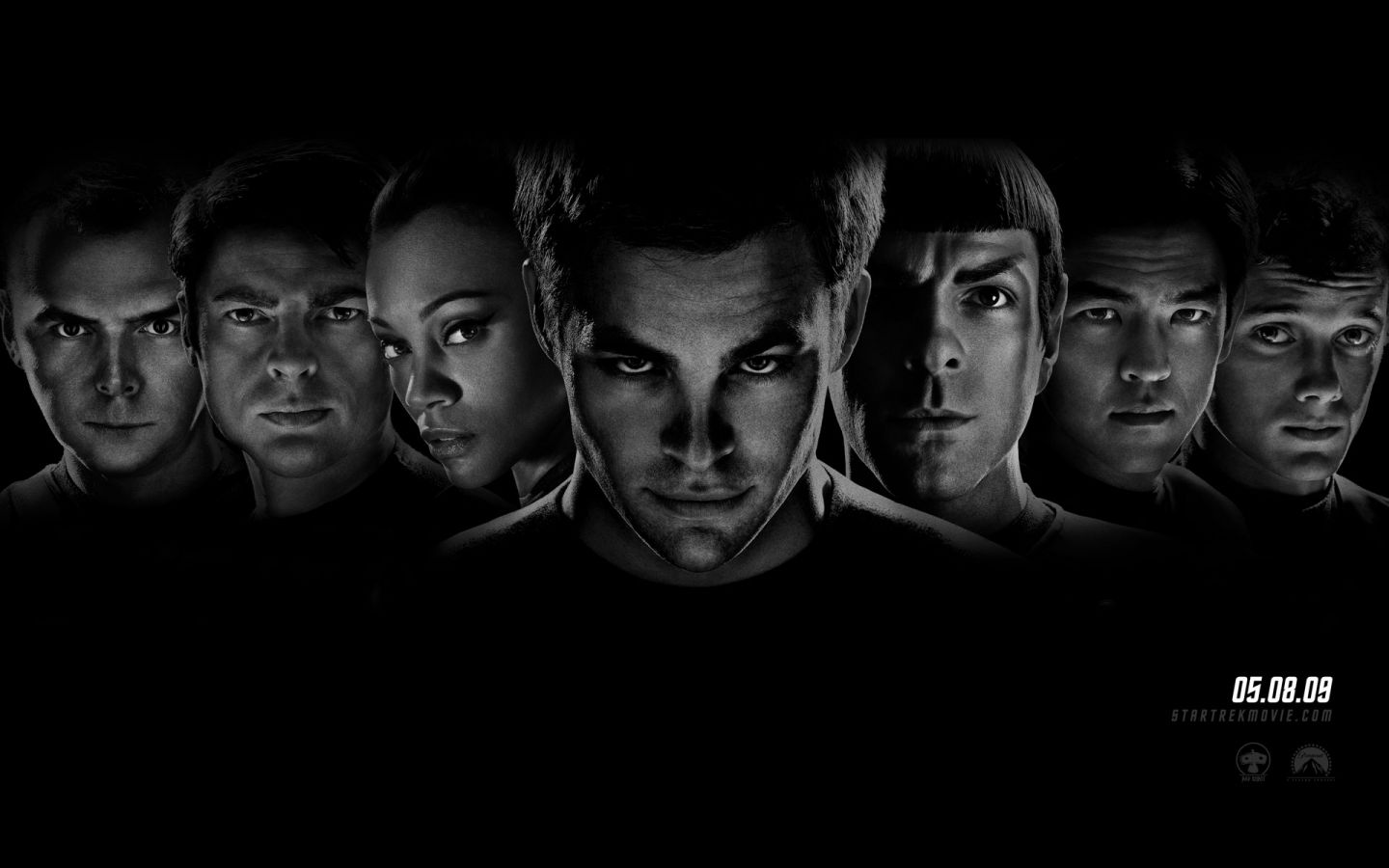 Star Trek 2009 Faces Wallpaper 1440x900