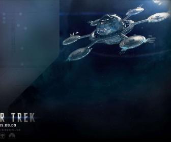 Star Trek 2009 Space Station Poster Wallpaper