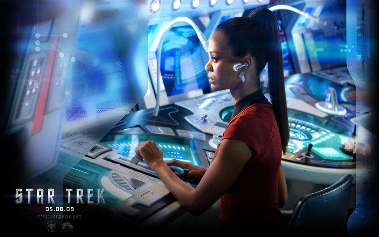 Star Trek 2009 Uhura Wallpaper 1280x800