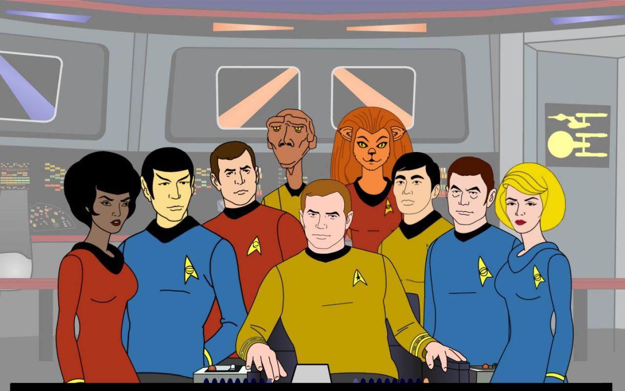 Star Trek Animated Series Cast Wallpaper 1280x800