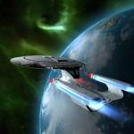 Star Trek Enterprise Earth Background Wallpaper