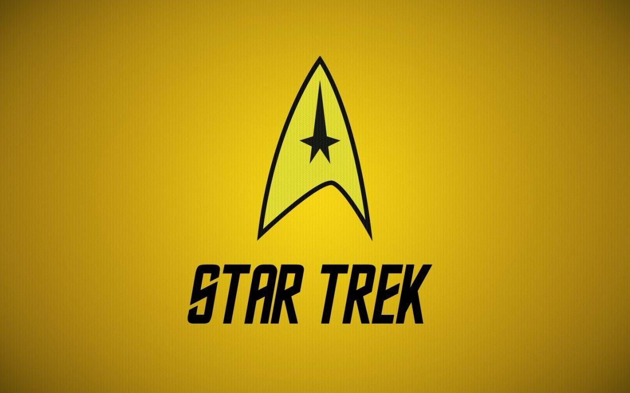 Star Trek Logo Yellow Wallpaper 1280x800