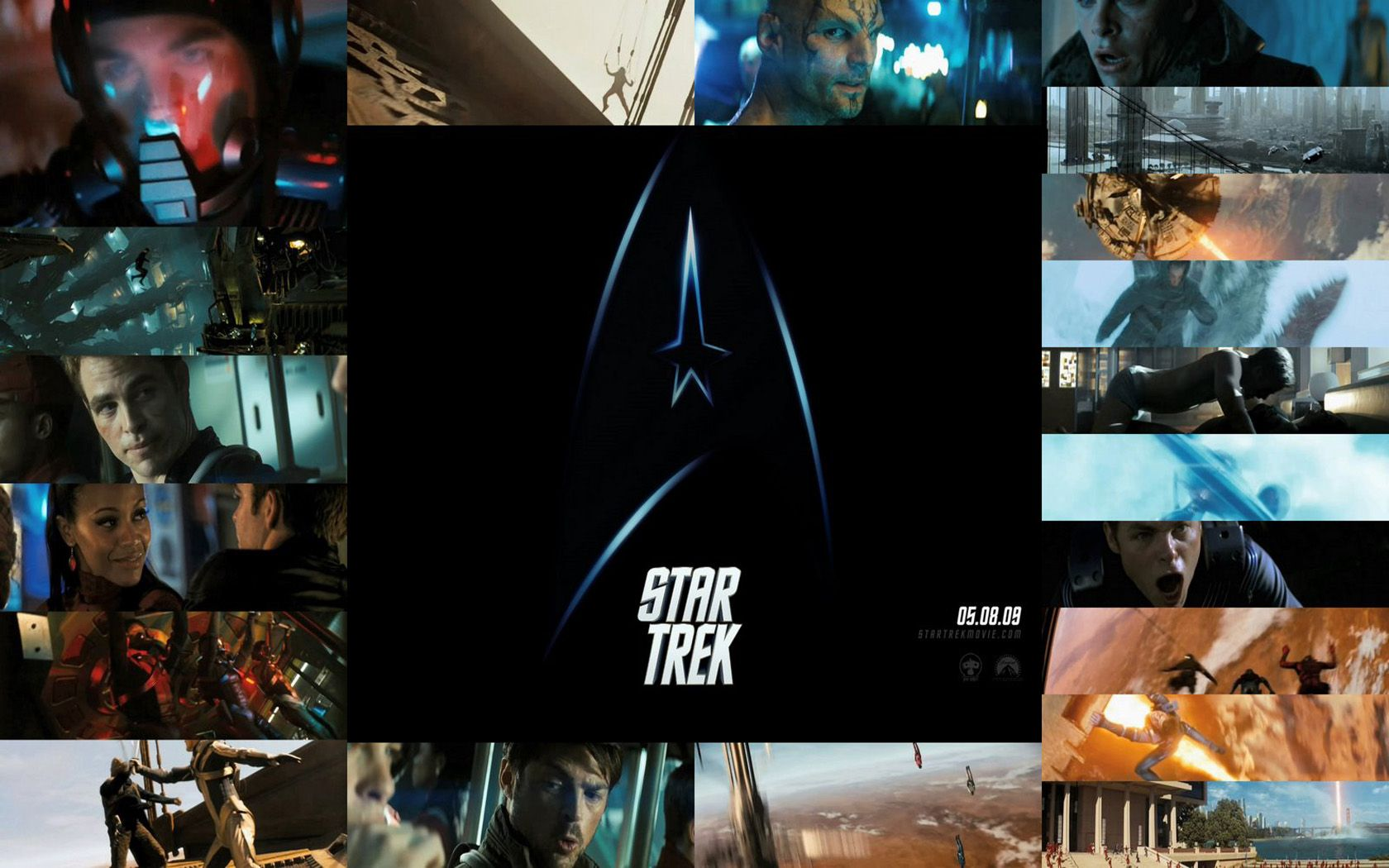 Star Trek Movie Screenshots Collage Wallpaper 1680x1050
