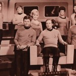 Star Trek Original Series Cast Monochrome Wallpaper