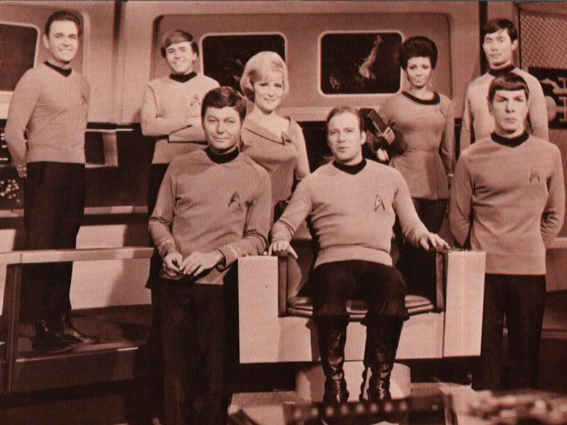 Star Trek Original Series Cast Monochrome Wallpaper 800x600