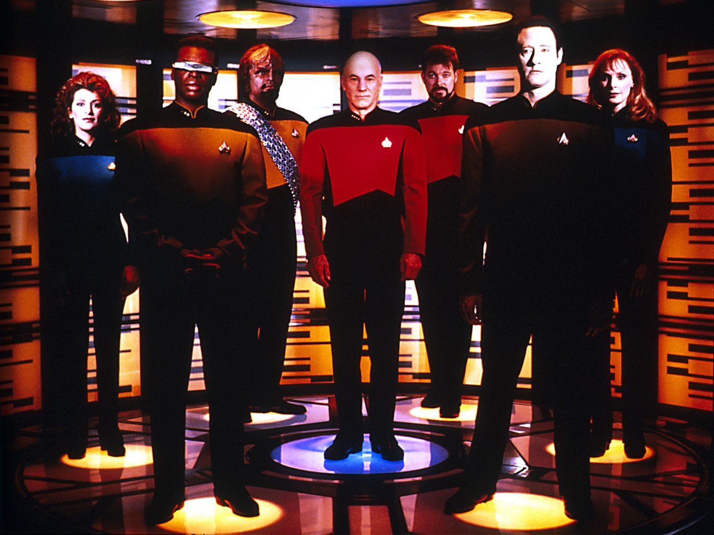 Star Trek The Next Generation Crew Wallpaper 1400x1050