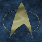 Star Trek The Next Generation Logo Engraved Wallpaper