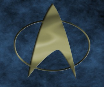 Star Trek The Next Generation Logo Engraved Wallpaper