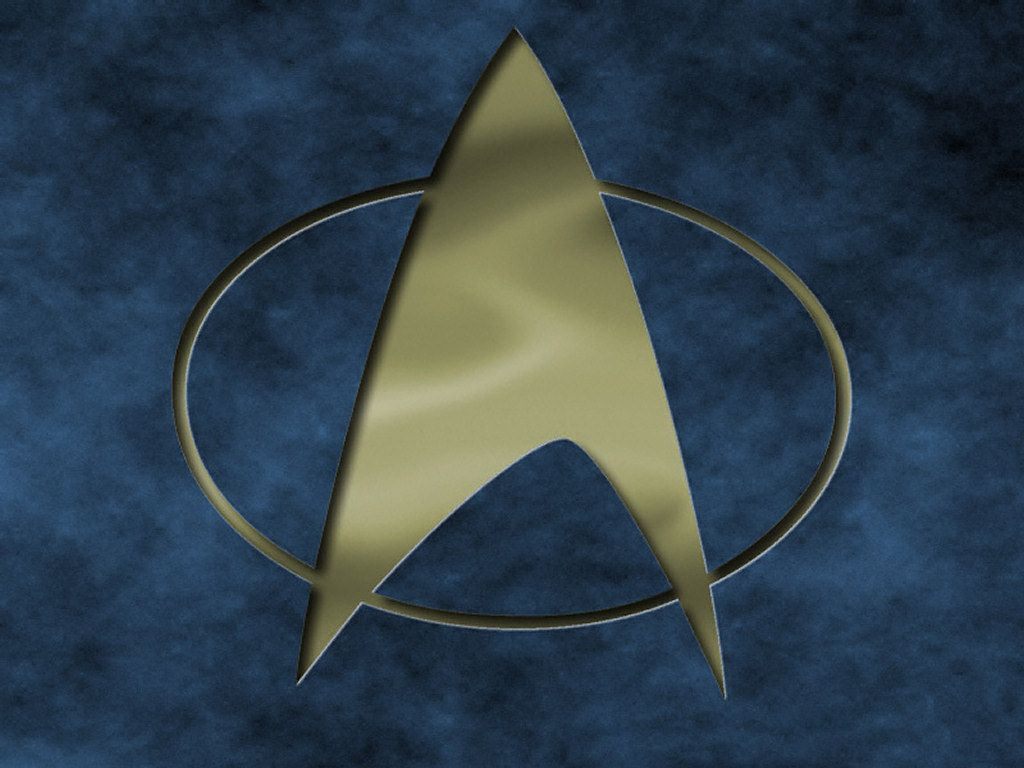 Star Trek The Next Generation Logo Engraved Wallpaper 1024x768