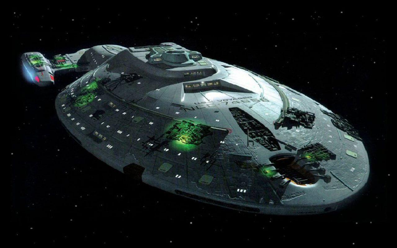 Star Trek Uss Voyager Wallpaper 1280x800