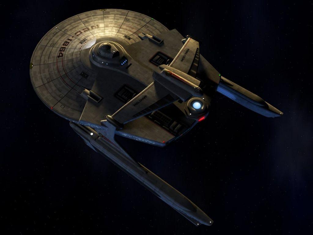 Starship Reliant Top View Wallpaper 1024x768