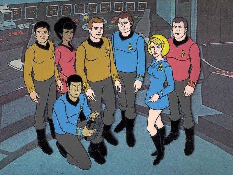 The Animated Series Cast On Starship Bridge Wallpaper 800x600