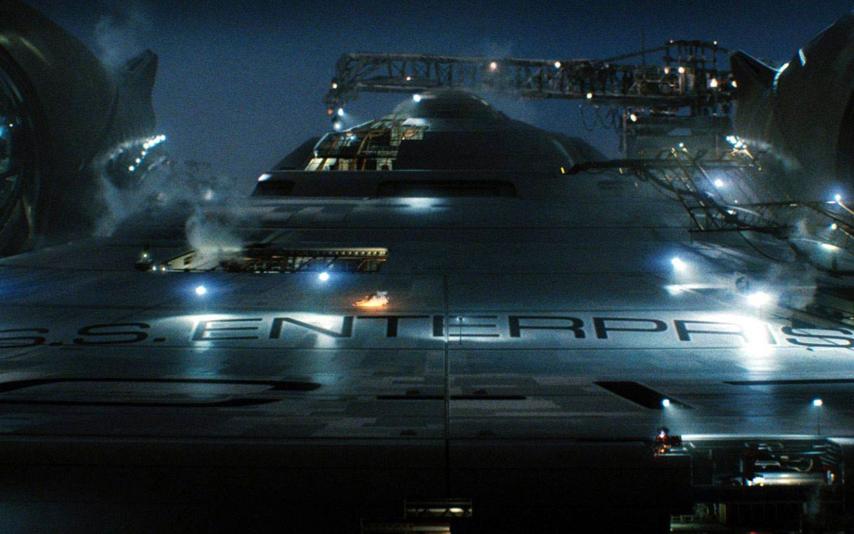 Uss Enterprise Front Close Up Wallpaper 1680x1050