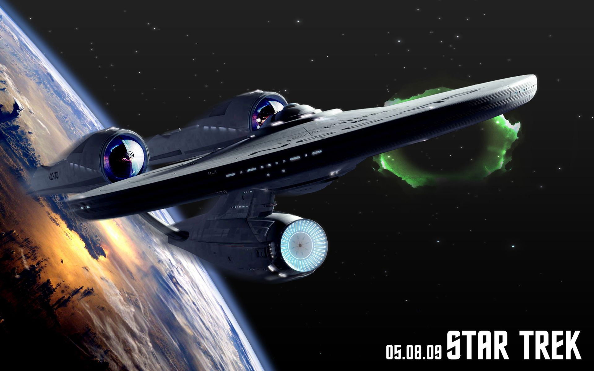Uss Enterprise Poster Wallpaper 1920x1200