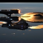 Uss Enterprise Top View Wallpaper