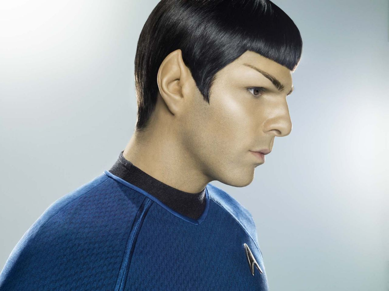 Zachary Quinto As Spock Side Portrait Wallpaper 1280x960