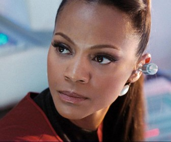 Zoe Saldana In Star Trek 2009 Wallpaper